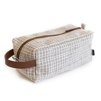 Dopp Travel Case - Woven Grey