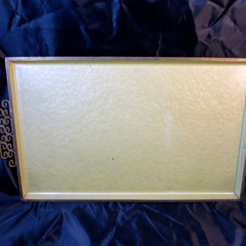 Art Deco Style Tray Kyes Crystalline Moire Baked Enamel Finish Brass Asian Handles 11 x 19 in Rectangular Serving Tray Vintage Home Decor