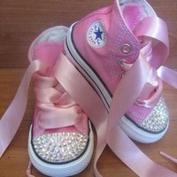 High top converse bling toddler/infant shoes