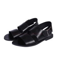 Patent Leather Flat Strap Sandals