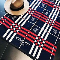 Burberry Autumn And Winter New Fashion Plaid Stripe War Horse Pattern Women Men Warm Scarf