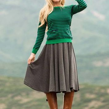 Pirouette Skirt Gray