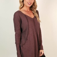 Vail Road Trip Thermal Tunic in Vineyard Grape