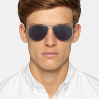 Tom Ford - Marko Aviator-Style Metal and Acetate Polarised Sunglasses | MR PORTER