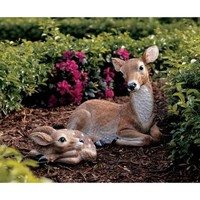 Mother Doe and Fawn Sculptures - NG933393 - Design Toscano