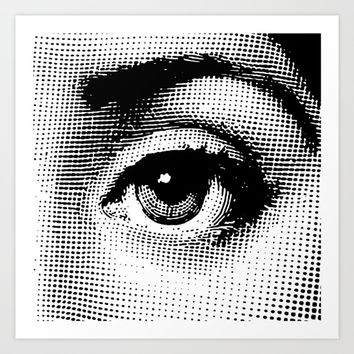 Lina Cavalieri Eye 02 Art Print by Leartset