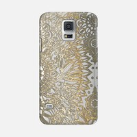 Festive Faux Gold Pattern on Crystal Transparent Galaxy S5 case by Micklyn Le Feuvre | Casetify