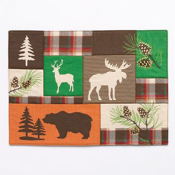 SONOMA life + style Plaid Patch Animal Placemat