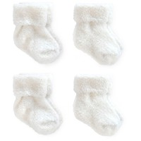 Baby 4pk Ankle Sock Set - Just One You™ Made by Carter's® White