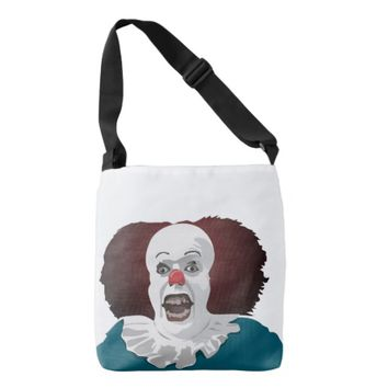 Cool Clown Face design Crossbody Bag