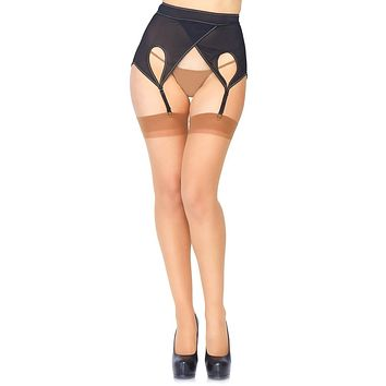 Beautiful Dream Sheer Back Seam Thigh High Stockings Tights Hosiery - 5 Colors Available