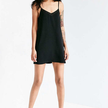Silence + Noise Sheer Inset Mini Slip Dress - Urban Outfitters
