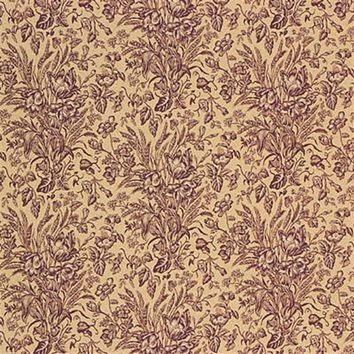 Kravet Couture Fabric 23766.916 Abigail Toile Mulberry