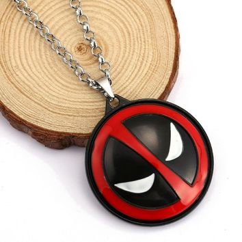 Deadpool Dead pool Taco H&F anime necklace   chain  necklace  Vintage Diffuse movie die shi  Logo Glass Pendant Necklace AT_70_6