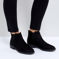 New Look Suedette Low Chelsea Boot at asos.com