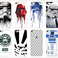 R2D2 Star Wars Coffee Stormtrooper Back Phone Case Cover For iPhone 4 4S 5 5S