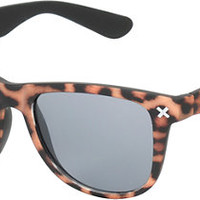 A-Lab Chester Soft Touch Leopard Print Sunglasses