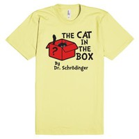 The Cat In The Box By Dr. Schrodinger-Unisex Lemon T-Shirt
