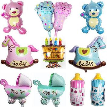 ICIK272 Mini wooden horse Foil Balloons inflatable air balloons classic toys wedding party supplies happy birthday balloons baby shower