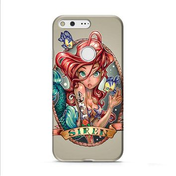 Ariel Little Mermaid Tattoo Google Pixel XL 2 Case