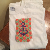 Anchor Monogrammed Short Sleeve Pocket T-Shirt