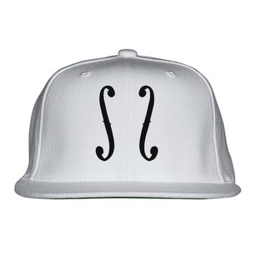 Cello Clipart Embroidered Snapback Hat
