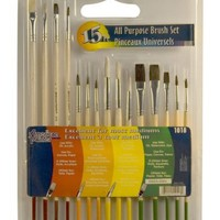 Loew Cornell 1018 Brush Set, AP 15-Piece Wood Handle