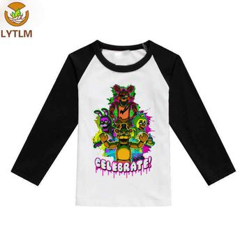 LYTLM Girls Long Sleeve Tops Spring Autumn Five Night at Freddy Fall 2018 Kids Boys Tops  Baby Girl Summer Clothes Tee Shirt