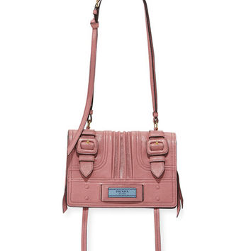 Prada Etiquette Small Glace Calf Shoulder Bag