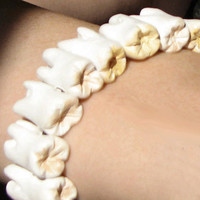 Human Teeth Bracelet - macabre, Quay Brothers, death glam, oddities