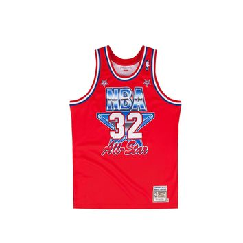 Mitchell & Ness Men's Magic Johnson Authentic Jersey - Red - Beauty Ticks