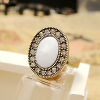 Vintage Style Seashell Oval Ring GHF