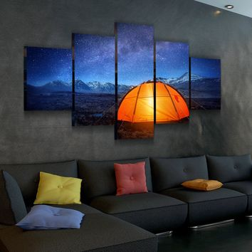 Camping In The Mountains Canvas Set