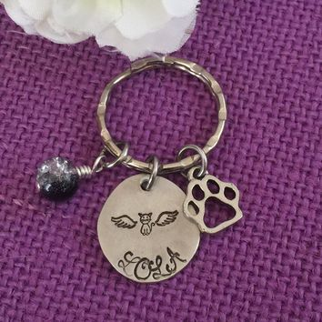 Pet Memorial Jewelry - Pet Memorial Keychain - Cat Keychain- Dog Keychain - Pet Remembrance - Custom Keychain - Pet loss Gift