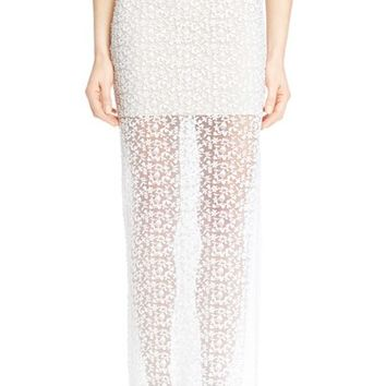 Alice + Olivia 'Misha' Embroidered Lace Maxi Skirt | Nordstrom