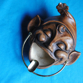 Vintage Ashtray Treasure Craft 1960 Elf Pixie FWB