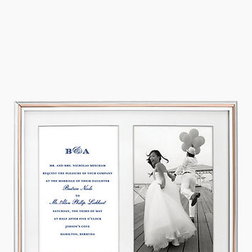Kate Spade Rosy Glow Double Invitation Frame Rose Gold ONE