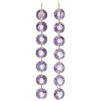 One-Of-A-Kind Amethyst Riviere Earrings | Moda Operandi