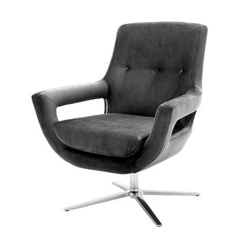 Gray Swivel Chair | Eichholtz Flavio
