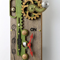 Single Rack and Pinion Light Switch Plate by GreenTreeJewelry