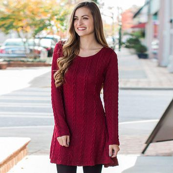 DCCKL72 Long sleeve 8 color knit sweater dress