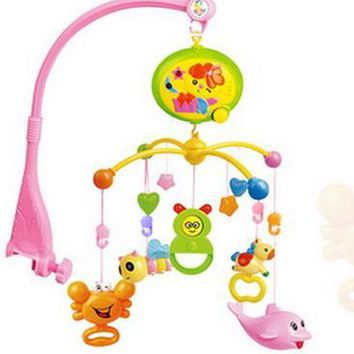 Newborn Toys Spin Musical  Bed Hanging Baby Rattles  Crib Mobile Holder Mobile Musical Bed Bell For 0-12 Months