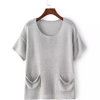 Short Sleeve T-shirt with Pockets