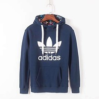 ADIDAS Women Fashion Hoodie Top Sweater Pullover
