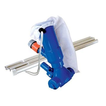 "9.5"" Blue Swimming Pool Vacuum Head Kit with Filter Bag and Aluminum Pole"