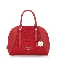 Guess Red Leather Handbag