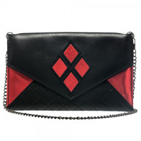 DC Comics Harley Quinn Envelope Wallet with Chain