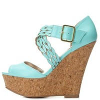 Crisscrossing Platform Wedges by Charlotte Russe