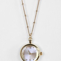 Delicate Antique Watch Pendant Necklace
