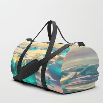 Crystal snow desert Duffle Bag by exobiology